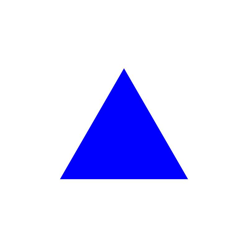 triangle—blue