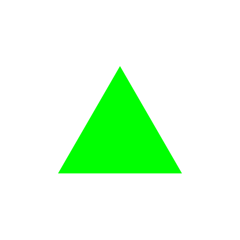 triangle—green