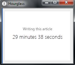 Timer & productivity tool Hourglass